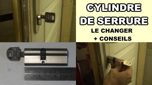 Comment changer un cylindre de serrure de porte barillet - Comment reboucher une porte ...