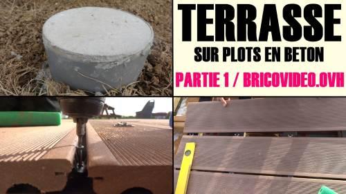 Realiser une terrasse en bois composite sur plot en beton arme - Dosage beton pour terrasse ...